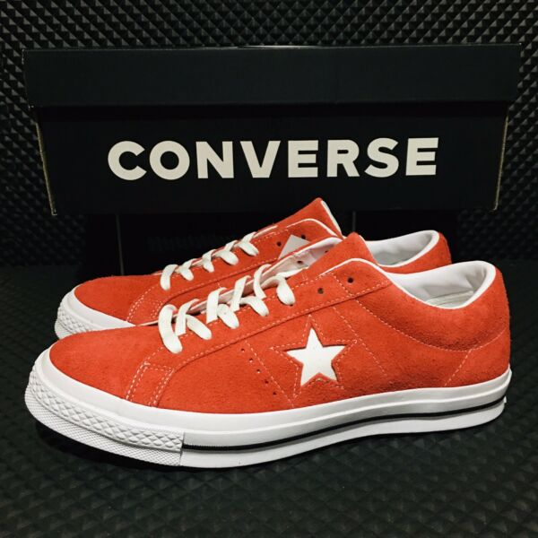 Converse One Star Suede (Men's Size 11) Skate Sneaker Red White Casual Shoes