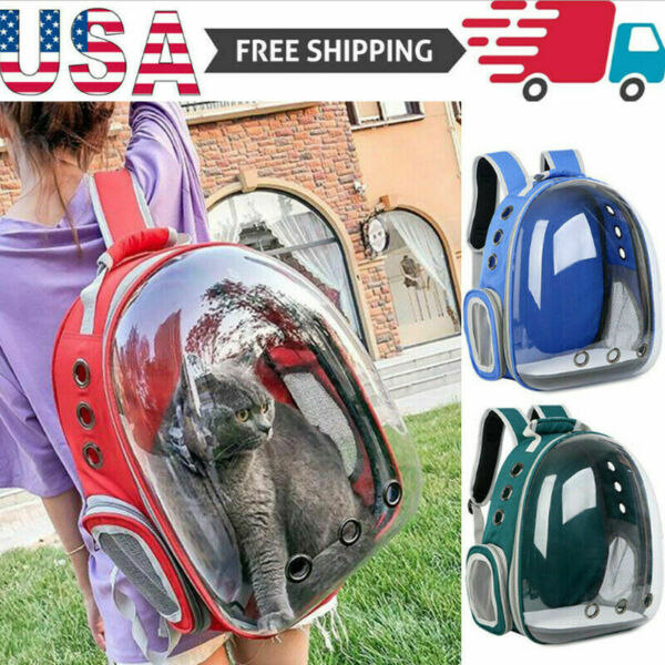 Pet Portable Carrier Backpack Space Capsule Travel Dog Cat Bag Transparent US $25.98