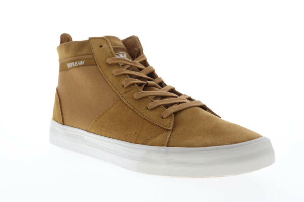 Supra Stacks Mid 05903-297-M Mens Brown Suede High Top Sneakers Shoes 9.5