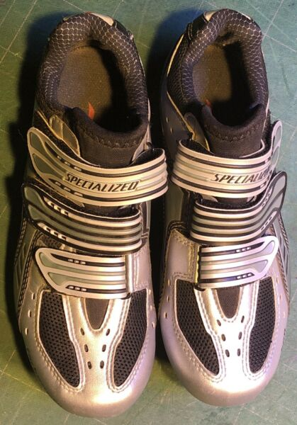 Specialized Carbon BG Women#x27;s 7 Road Bike Shoes W SPD Cleats Cycling Riding $24.99