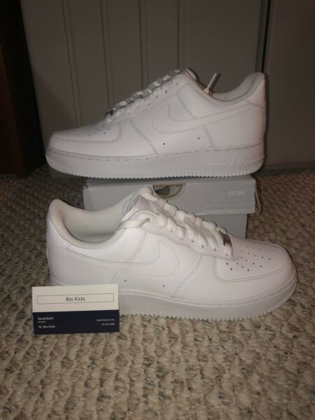Brand New Nike Air Force 1 Low White '07 315122 111 WHITE/WHITE AF1 Nike Size 9