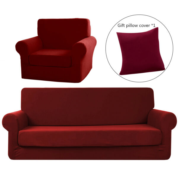 Stretch Sofa Slipcover2 Piece Sofa Cover Furniture Protector for 1 2 3 4 Seater $21.91