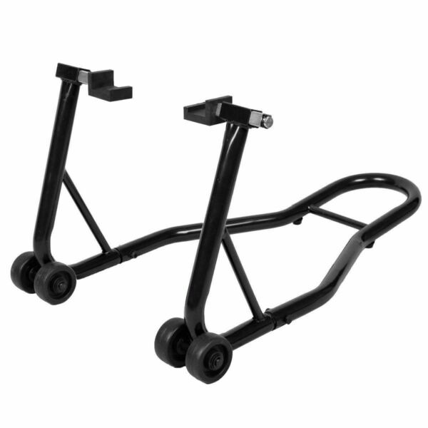 Motorcycle Bike Stand Rear Forklift Spoolift Paddock Swingarm Lift Auto Black $49.99