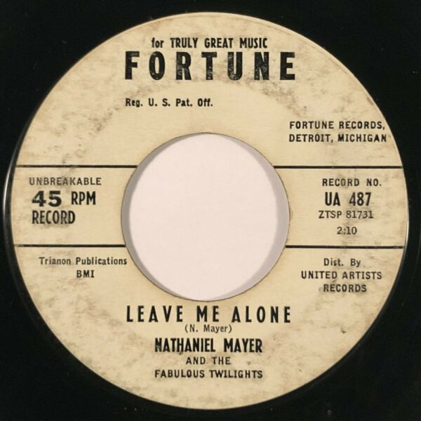 NATHANIEL MAYER Leave Me Alone  Hurting Love Fortune R&B 45 HEAR