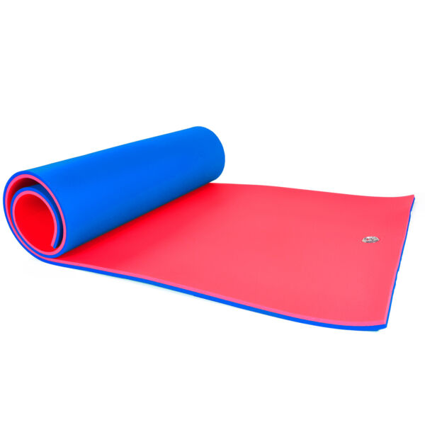Floatation iQ Floating Oasis 15 x 6 Ft Island Water Pad Mat Blue Red (Open Box) $410.05