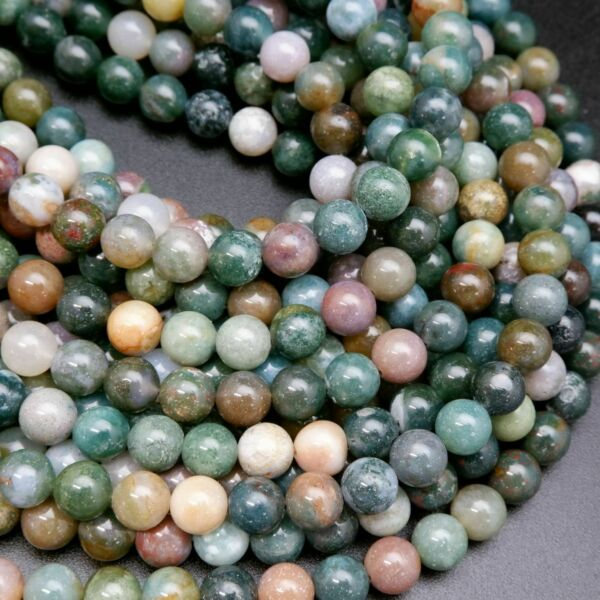 Fancy Jasper · Smooth · Round · 4mm 6mm 8mm 10mm $7.00