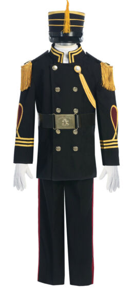 NEW Cadet uniform costume for boys in Black With gold accents