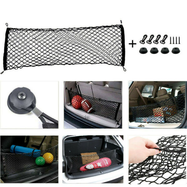 Universal Car Trunk Storage Net Bag Elastic Mesh Organizer Holder Accessories $12.78