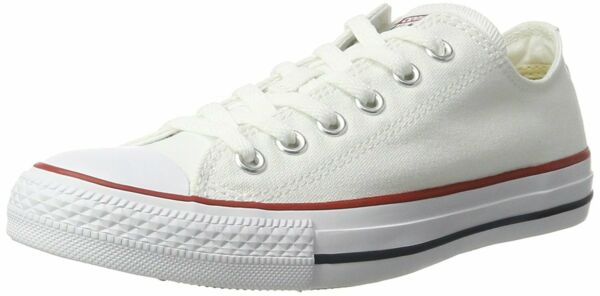 Converse Womens All Star Low Top Lace Up Fashion Sneakers, Optic White, Size 9.0