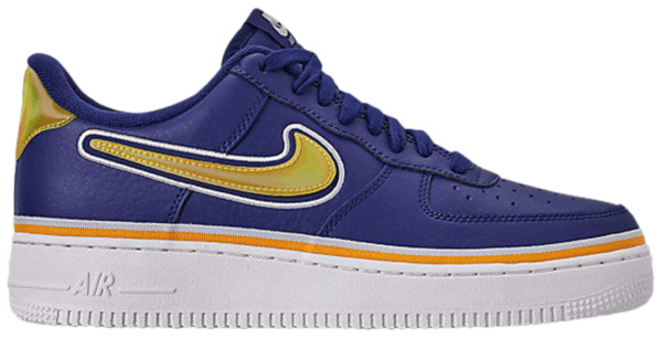 Nike Air Force 1 One Low Blue Royal Gold Shoes AR0734-400  Youth 5.5Y, Women's 7