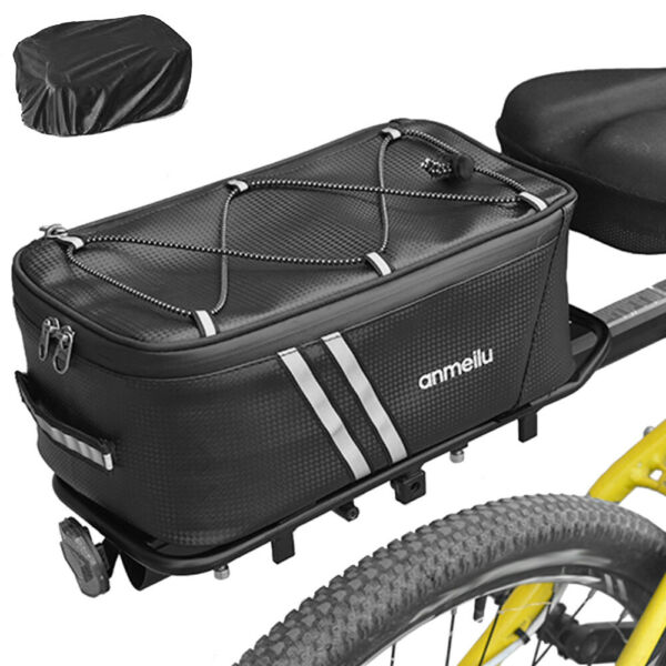 Bike Trunk Bag Pannier Waterproof Bicycle Cycling Rear Rack Storage Pack Pouch $22.79