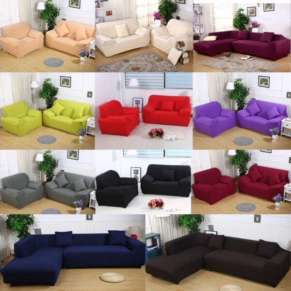 Universal Sofa Cover Slipcover 1 2 3 4 Seater Stretch Couch Furniture Protector $3.99