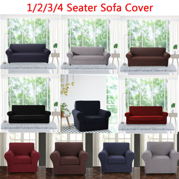 Elastic Sofa Slipcover 2 Pieces Furniture Protector Chair Loveseat Cover for Pet $24.27