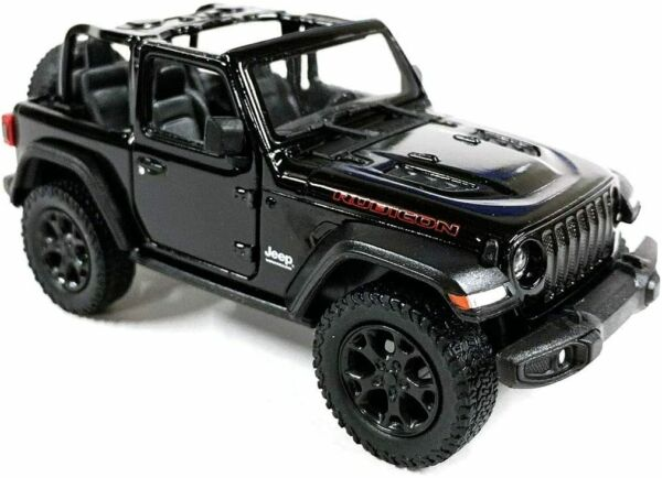 2018 Jeep Wrangler Rubicon Convertible Black Diecast Model Toy Car 1:34 Scale 5quot;