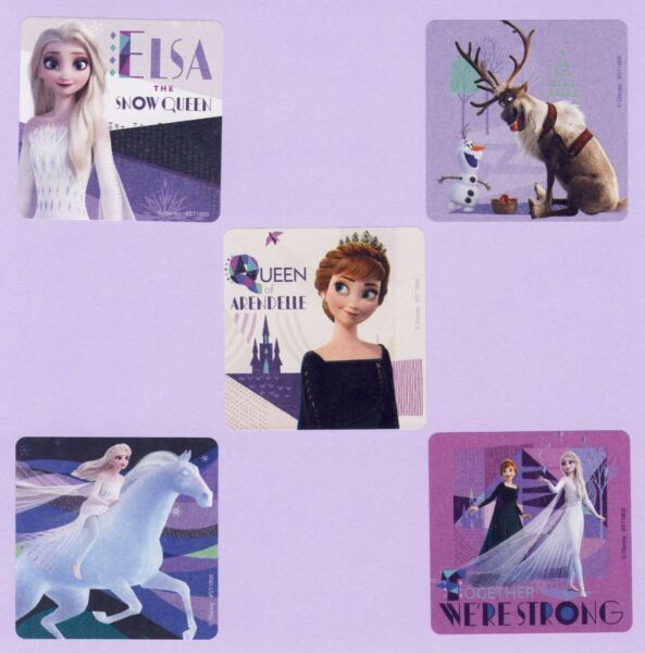 10 Frozen 2 Snow Queen Large Stickers Party Favors Anna Elsa Olaf Sven