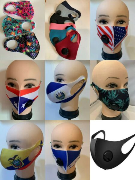 New Fashion Light weight air vent Reusable Washable Stretch Face Mask $5.99