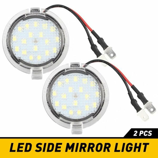 2PCS LED Side Mirror Puddle Lights For Ford F150 Edge Explorer Kuga Expedition A