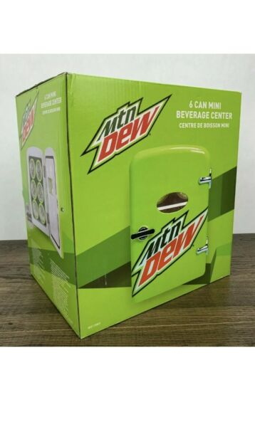 Mt Dew 6 Can Mini Beverage Center, 120 Or 12 Volt, Holds 6 12oz. Cans, New.