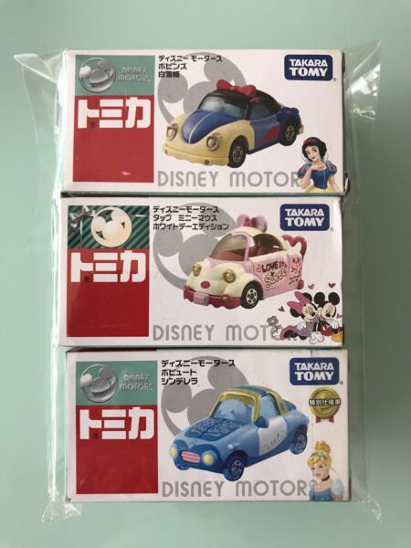 Tomica Disney Motors Snow White Mickey Mouse Cinderella Rare Out Of Print NEW