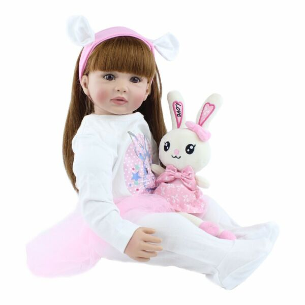 Reborn Baby Dolls Toddler Realistic Girl 24in Real Looking Birthday Gift for Kid