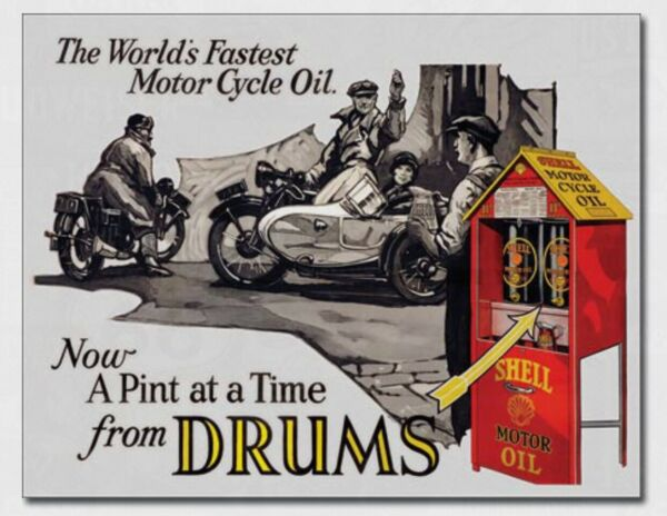 Shell Motorcycle Oil Metal Tin Sign Gas Home Garage Shop Bar Wall Decor #2089 $14.95