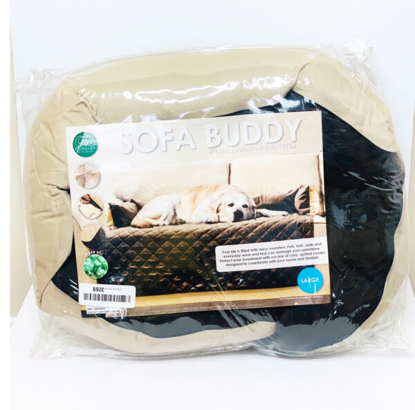 FurHaven Pet Buddy Dog Furniture Cover Bed Espresso Clay Large $21.99