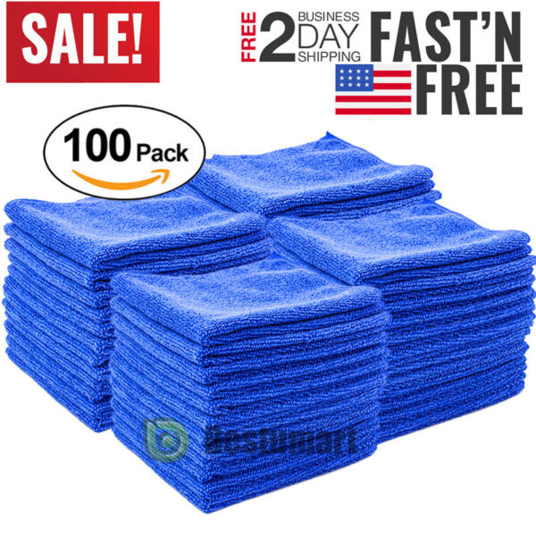 Lot Microfiber Cleaning Cloth Towel Rag Car Polishing No Scratch Auto Detailing $8.99