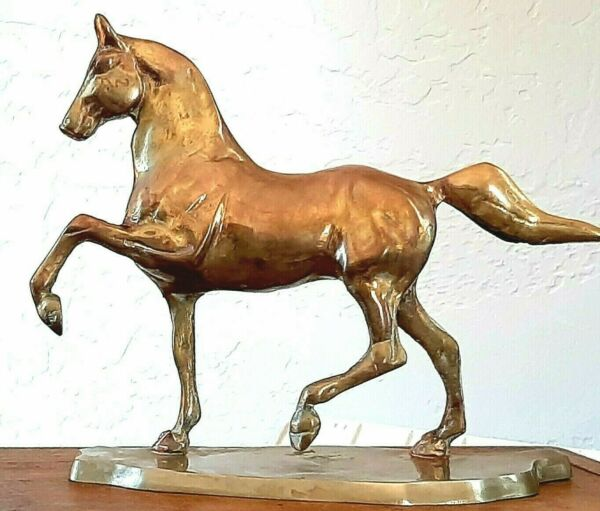 Vintage Horse Figurine Brass Equestrian English Country