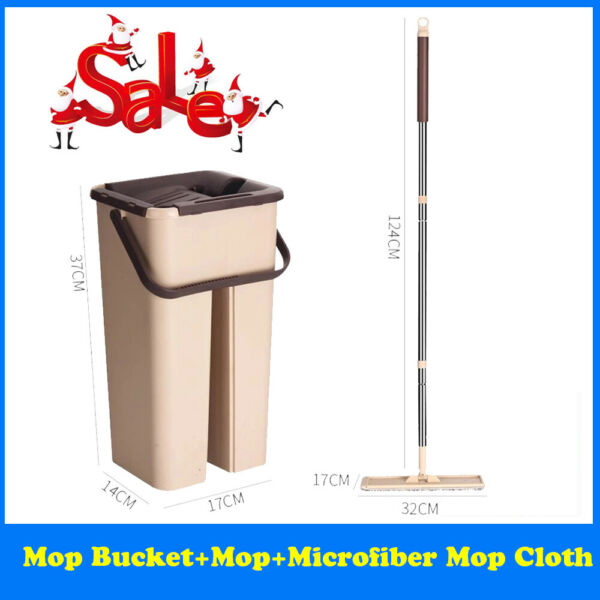 Spray Magic Automatic Flat Squeeze Mop Microfiber and Bucket System Kitchen Home $20.59