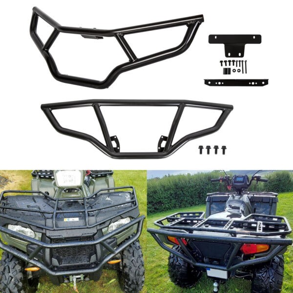 Front amp; Rear Brush Guard Bumper Set fit 2014 2020 Polaris Sportsman 450 570 amp;ETX