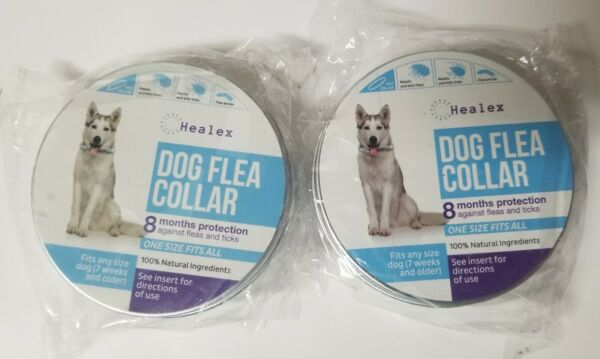 2 Healex Dog Flea Collars for Flea and Tick Treatment and Prevention $13.47
