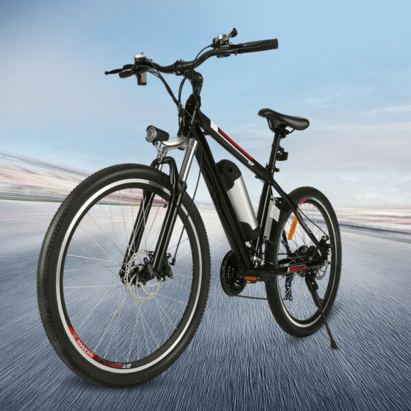 Electric Bike Adult 26inch Mountain Bicycle Ebike 36V Removable Lithium Battery.