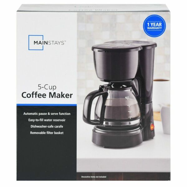 5 Cup Coffee Maker Brew Pot Kitchen Appliance Electric Brewer Filter Home