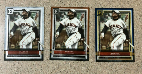 2020 Topps Museum Collection Willie Mays #1 Base Copper Blue 150 Rainbow 3x Lot