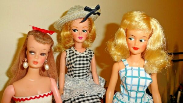 VINTAGE IDEAL CLONE DOLLS W HUGE LOT OF TAMMY CLONE HOME MADE CLOTHES SHOES WOW