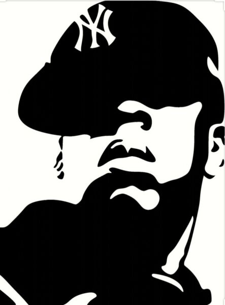 Hand painted art canvas 16x20 Inches JAY Z Acrylic painting Black amp; White