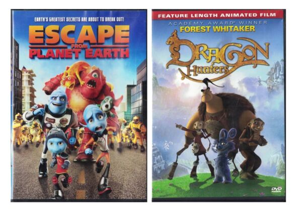 Dragon Hunters & Escape From Planet Earth DVD Lot $6.43