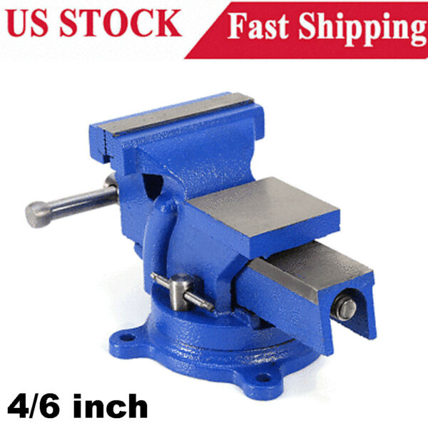 4quot; Heavy Duty Work Bench Vice Vise Workshop Clamp Engineer Jaw Swivel Base Table