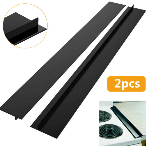 Silicone Kitchen Stove Counter Gap Cover Oven Guard Spill Seal Slit Filler 1 2x