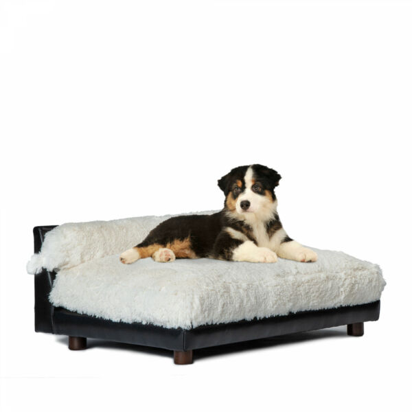 Luxury Orthopedic Dog Bed Small Dogs up to 20 Lbs Ivory Removable Washable Cover $124.99