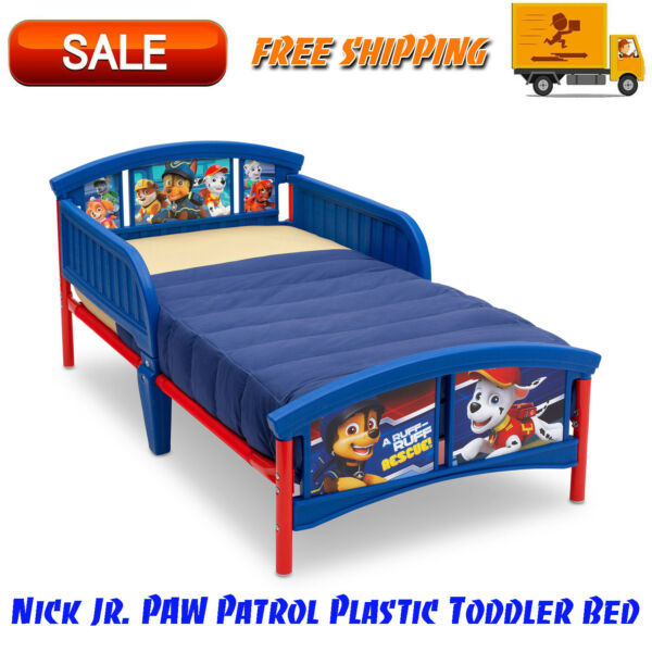 Nick Jr. PAW Patrol Plastic Toddler Bed Blue Bedroom Furniture For Childrens $66.95