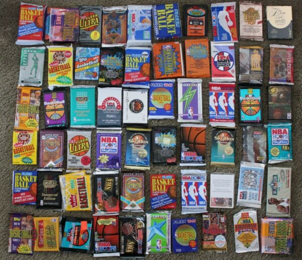 Estate Sale Lot of old vintage NBA Basketball Cards in Factory Sealed Packs