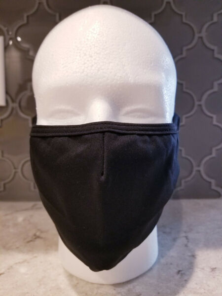 Black Polypropylene non woven Fabric Face Mask Adult Reusable Washable