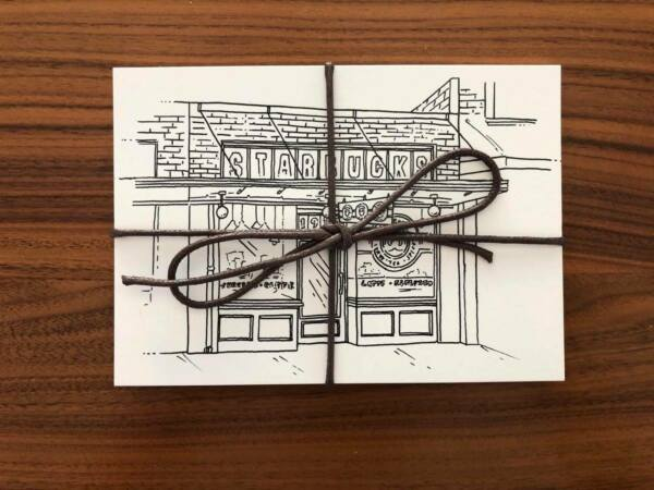 Original First Starbucks Pike Place Postcard Set Storefront Siren 2020 new