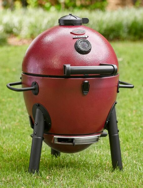Char Griller E06614 AKORN Jr Red Charcoal kamado Grill smoker roast barbecuing