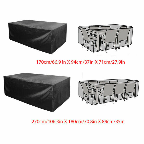 Waterproof Garden Patio Furniture Covers Rectangle Outdoor Table Rain Cover US