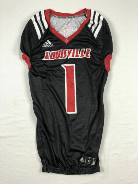 Louisville Cardinals adidas Jersey Men#x27;s Black Poly Used Multiple Sizes