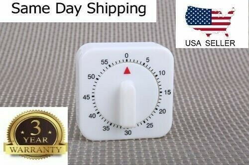 1Hr 60Min Mechanical Timer Game Count Down Counter Alarm Kitchen Cooking Tool