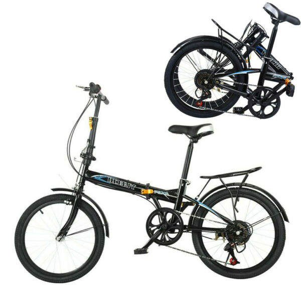 20quot; Folding 7 Speed ​​City Compact Suspension Bike Bicycle Urban Commuters $119.99