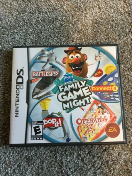 Hasbro Family Game Night Nintendo DS 2009 Very Good Condition